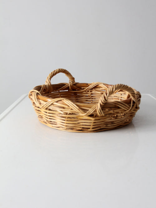 vintage basket tray