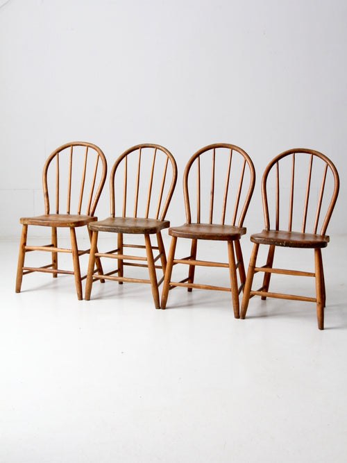 antique spindle back dining chairs set of 4