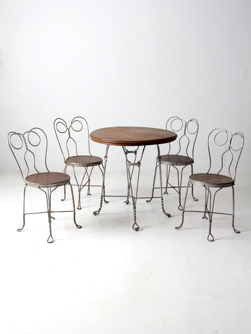 antique ice cream parlor bistro table set