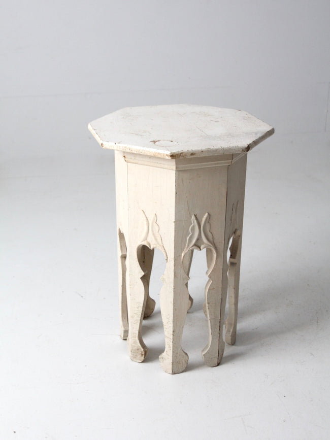antique octogonal side table