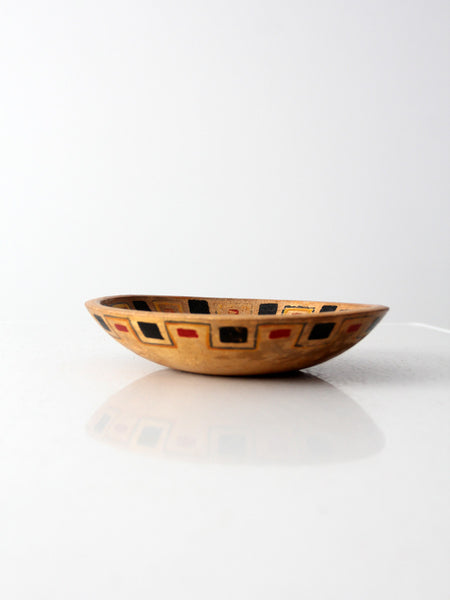 vintage 50s Mexicana wood bowl