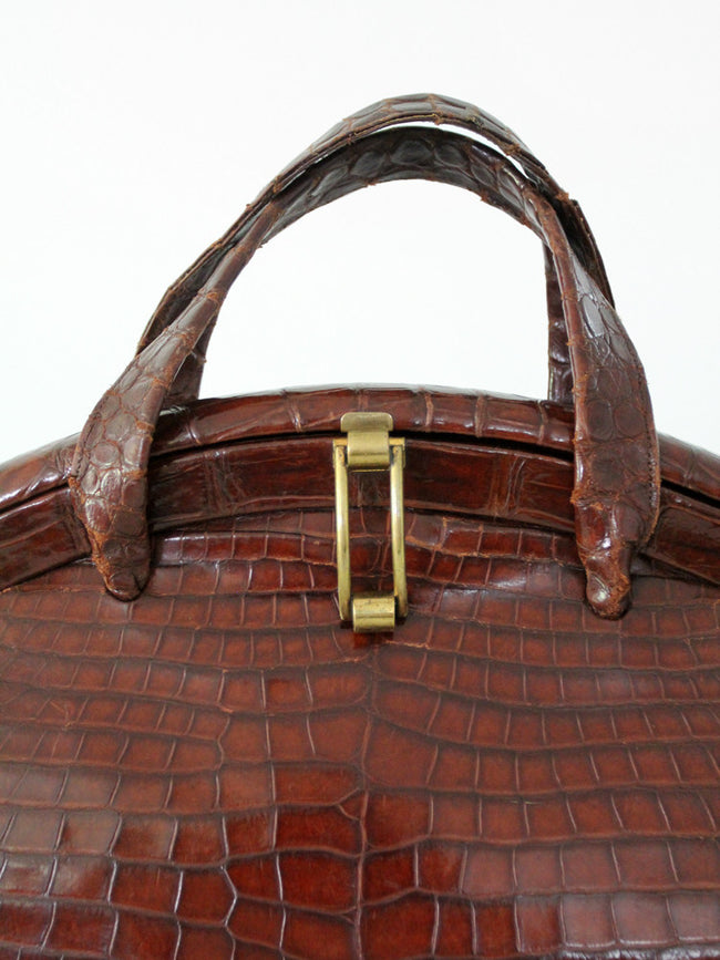 vintage 60s alligator purse