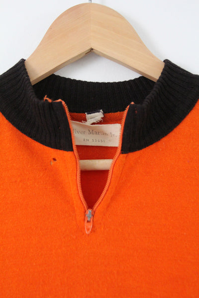 vintage wool cycling jersey with back pocket