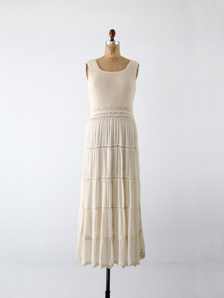 vintage crotchet maxi dress