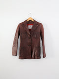 vintage Crae Carlyle leather jacket