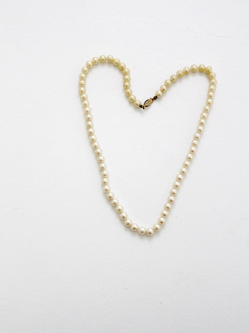 vintage 60s Sarah Coventry faux pearl strand necklace