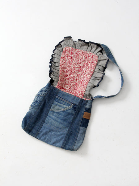 vintage 70s denim purse