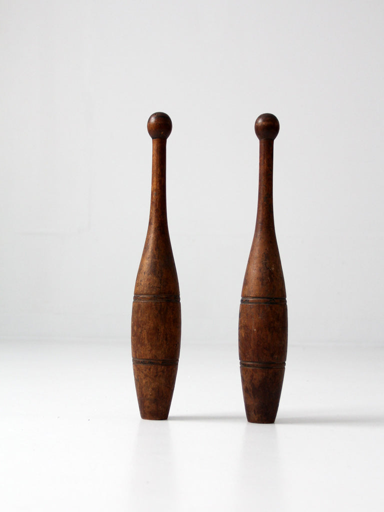 antique Indian juggling clubs
