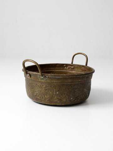 primitive twig basket with handle