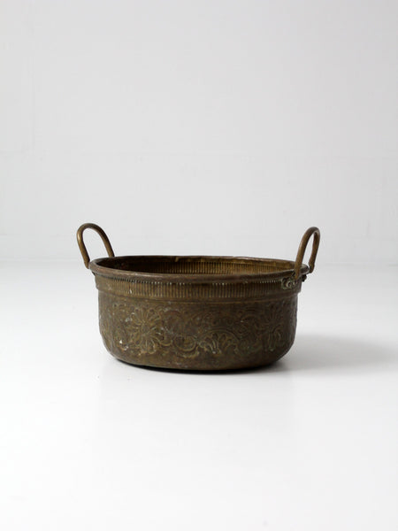 antique brass bowl with handles