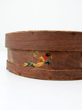 antique folk art cheese box