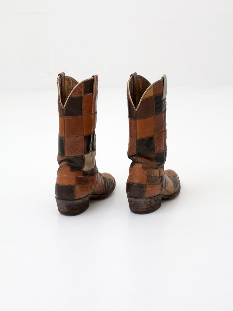 vintage Laramie patchwork leather boots
