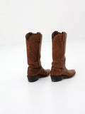 vintage brown leather cowboy boots
