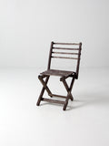 vintage slat wood children's chair