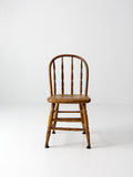 vintage wood spindle back chair