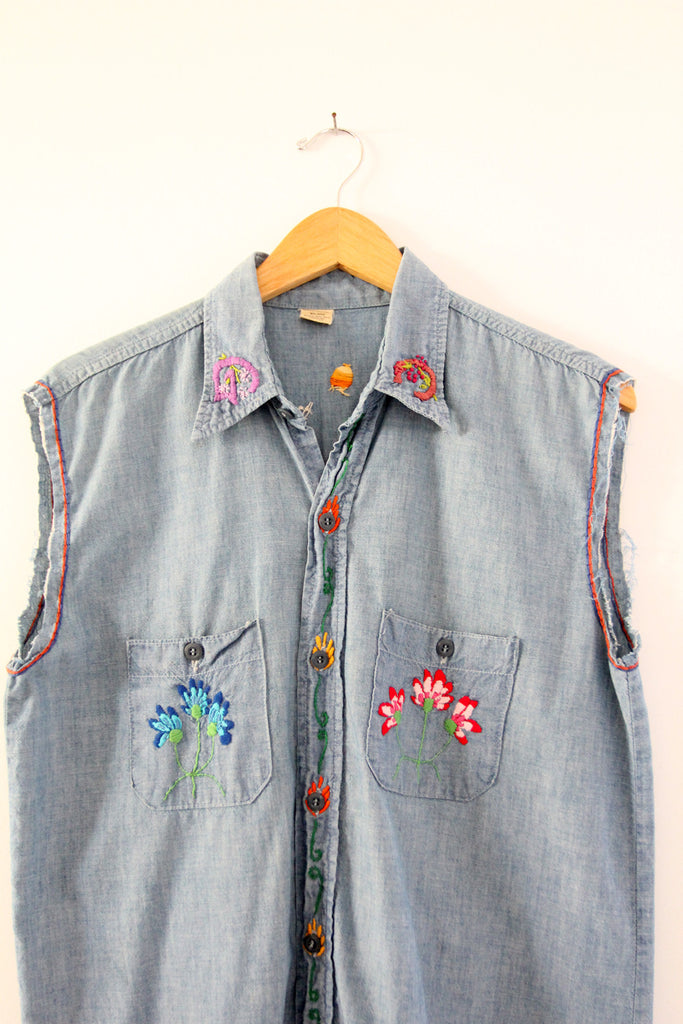 vintage hippie denim shirt