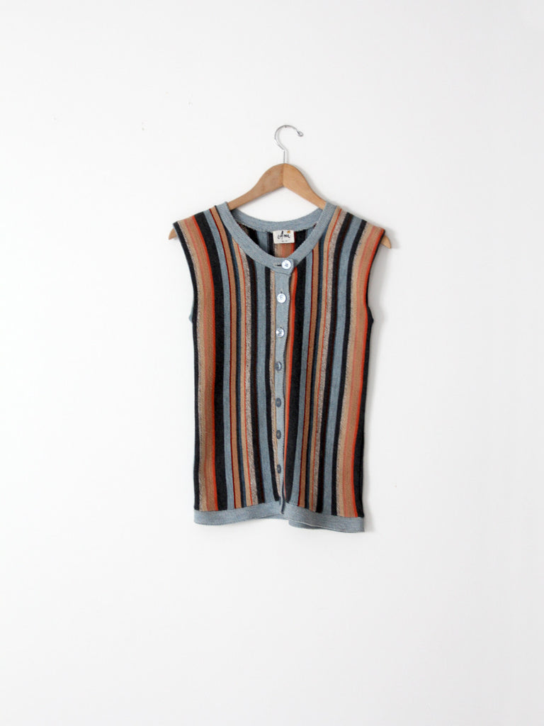 1980s striped knit vest