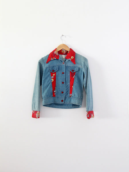 vintage 70s patchwork denim jacket