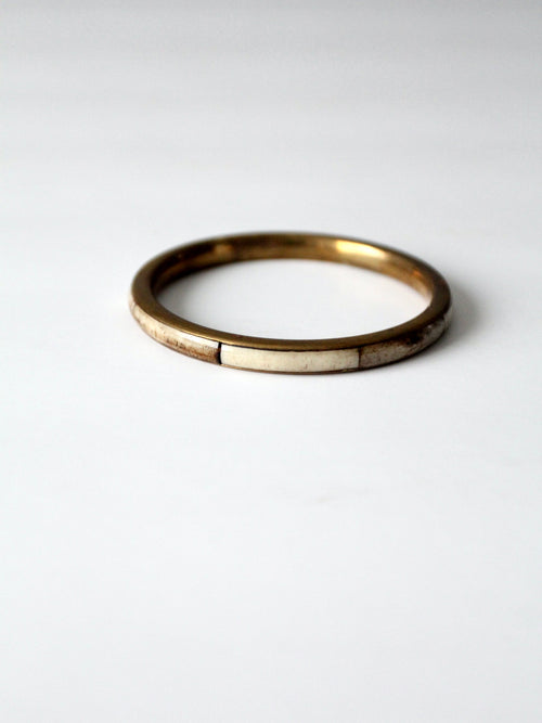 vintage brass & bone bangle