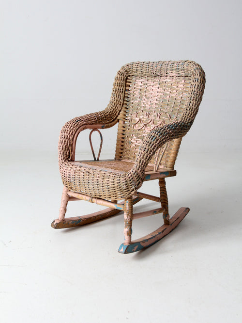 Victorian children's wicker rocking chair