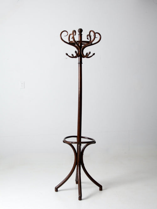 antique bentwood hall tree