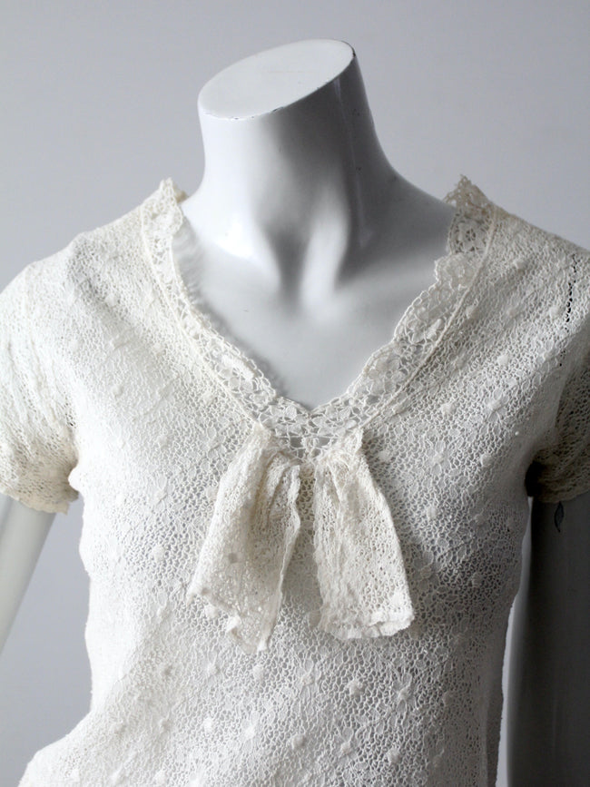 vintage white lace blouse