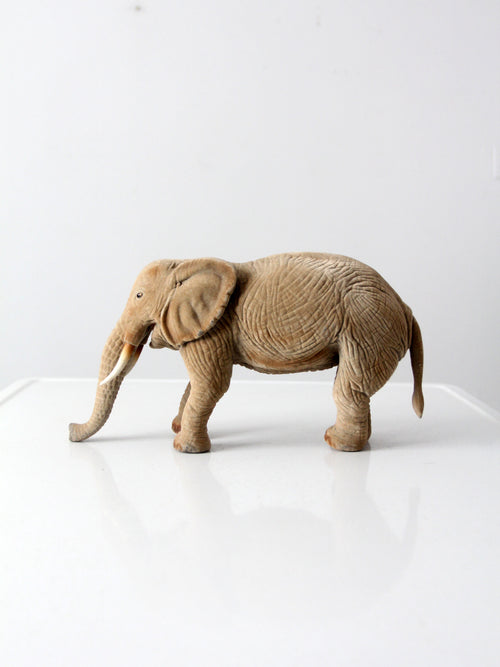 vintage flocked elephant