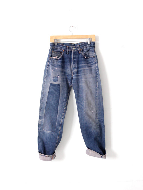 vintage patched Levi's 501 Big E jeans 29 x 29