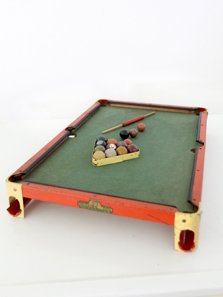antique toy billiards pool game table