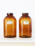 antique Merck apothecary jars pair