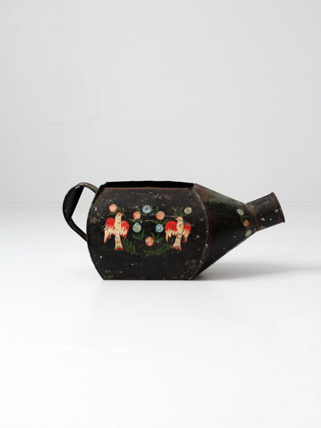 vintage folk art watering can