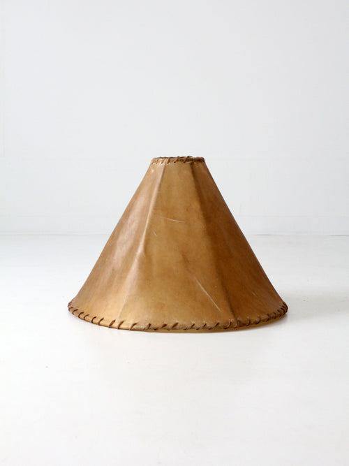 vintage hide lamp shade