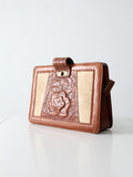 vintage handbag with ponyskin