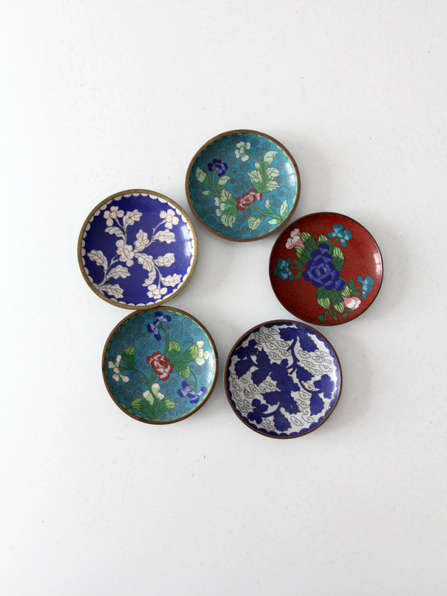 antique Chinese cloisonne plate collection