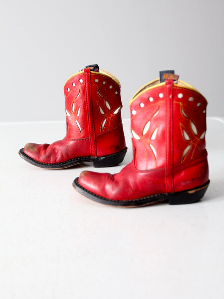 vintage 40s children's Bronco boots