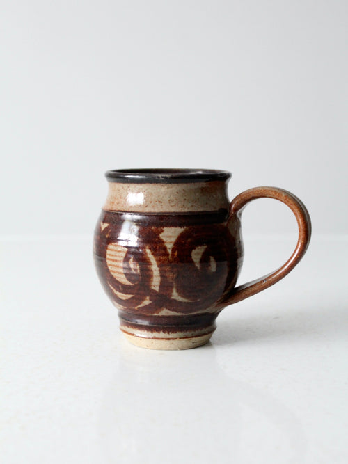 vintage large studio pottery mug