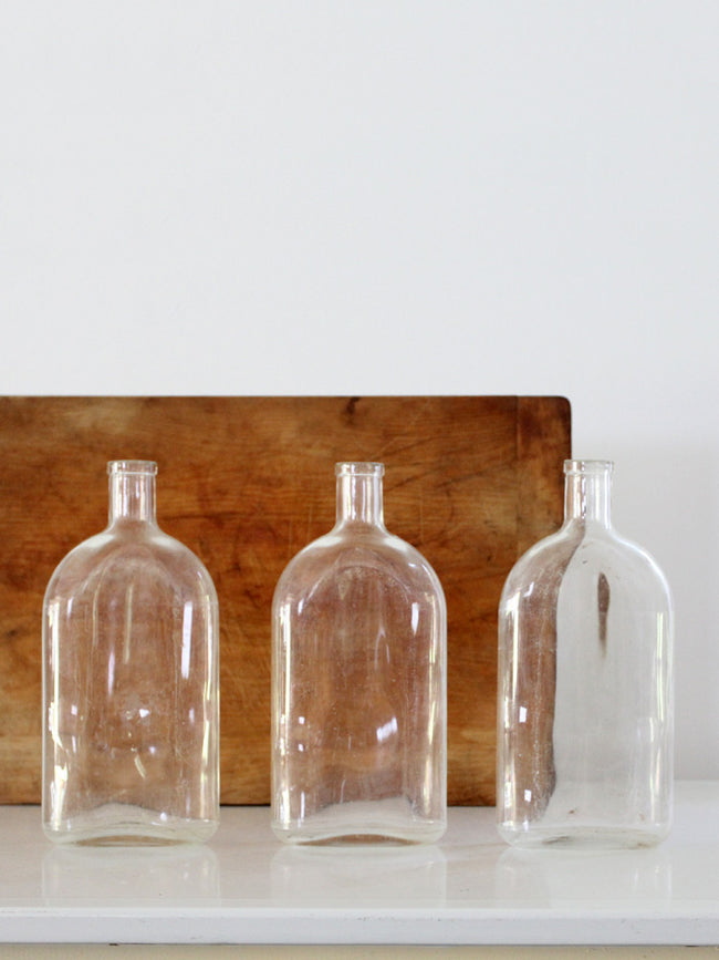 vintage Pyrex apothecary bottle collection