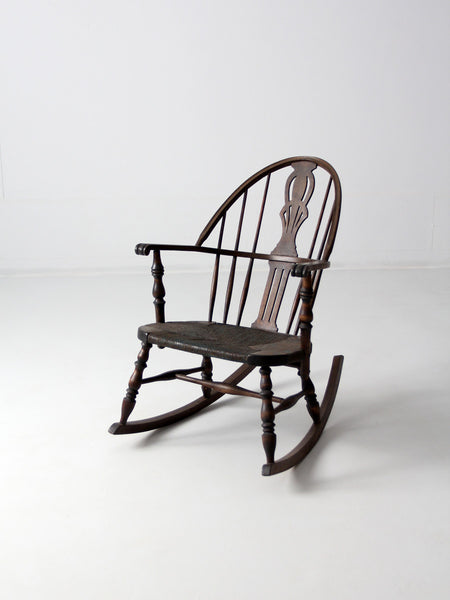 antique children's folk art chair