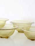 1930s amber depression glass mixing bowls