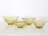 1930s federal glass co mixing bowl collection in amber