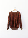 vintage gianfranco ferre velour top