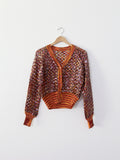 vintage sequin cardigan sweater