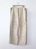 antique european grain sack / homespun farm bag