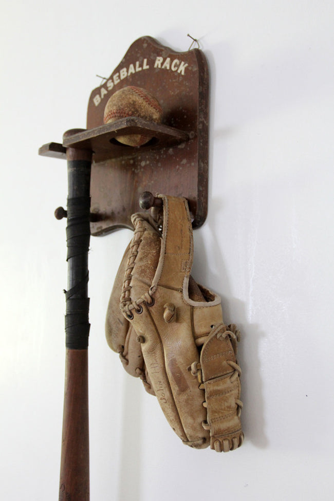 1940s kids baseball rack