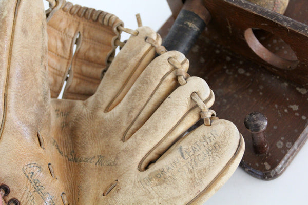 1940s kids baseball rack with cragstan glove