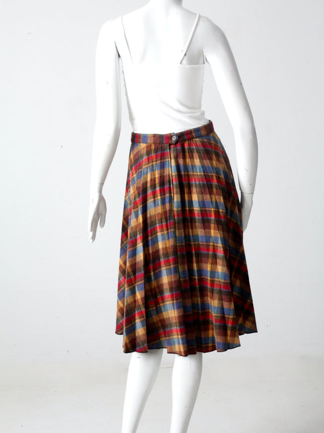 vintage 70s Benetton plaid skirt