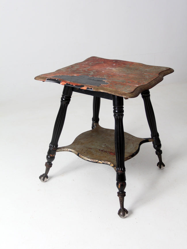 antique claw and ball foot end table