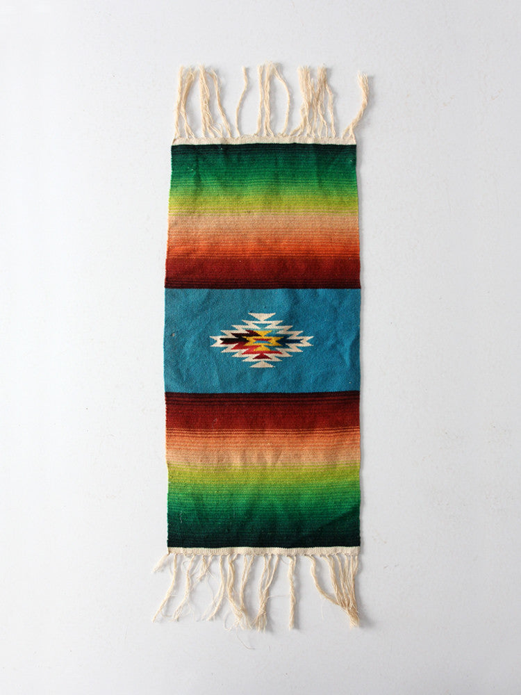 vintage Mexican serape style table runner
