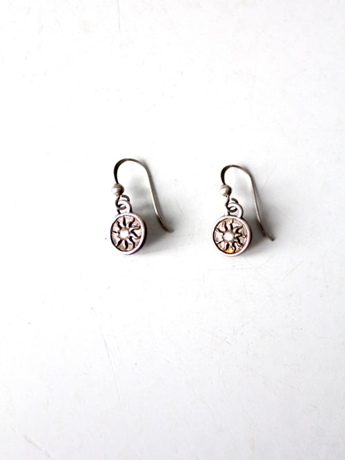 vintage sterling silver drop earrings