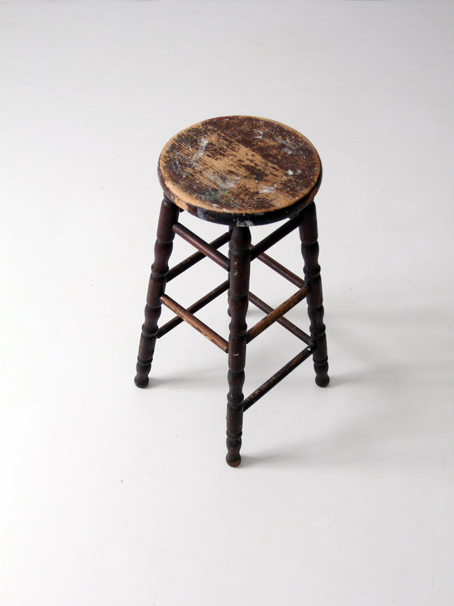 antique spindle leg stool